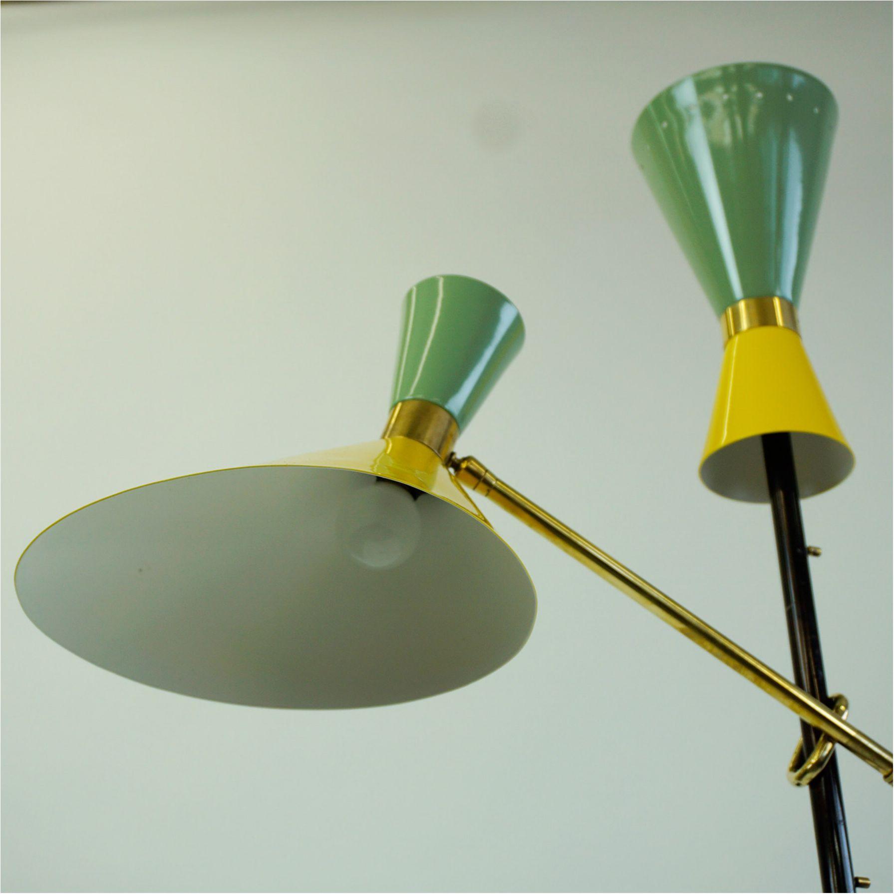 Austrian Midcentury Brass Floor Lamp Pelikan By J T Kalmar