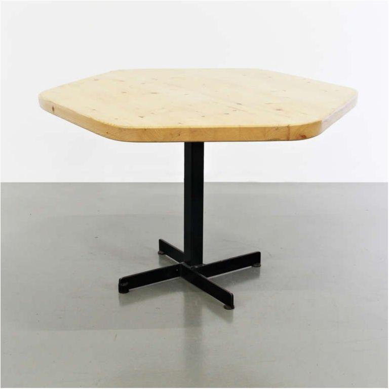 1960s Rare Charlotte Perriand Hexagonal Table For Les Arcs