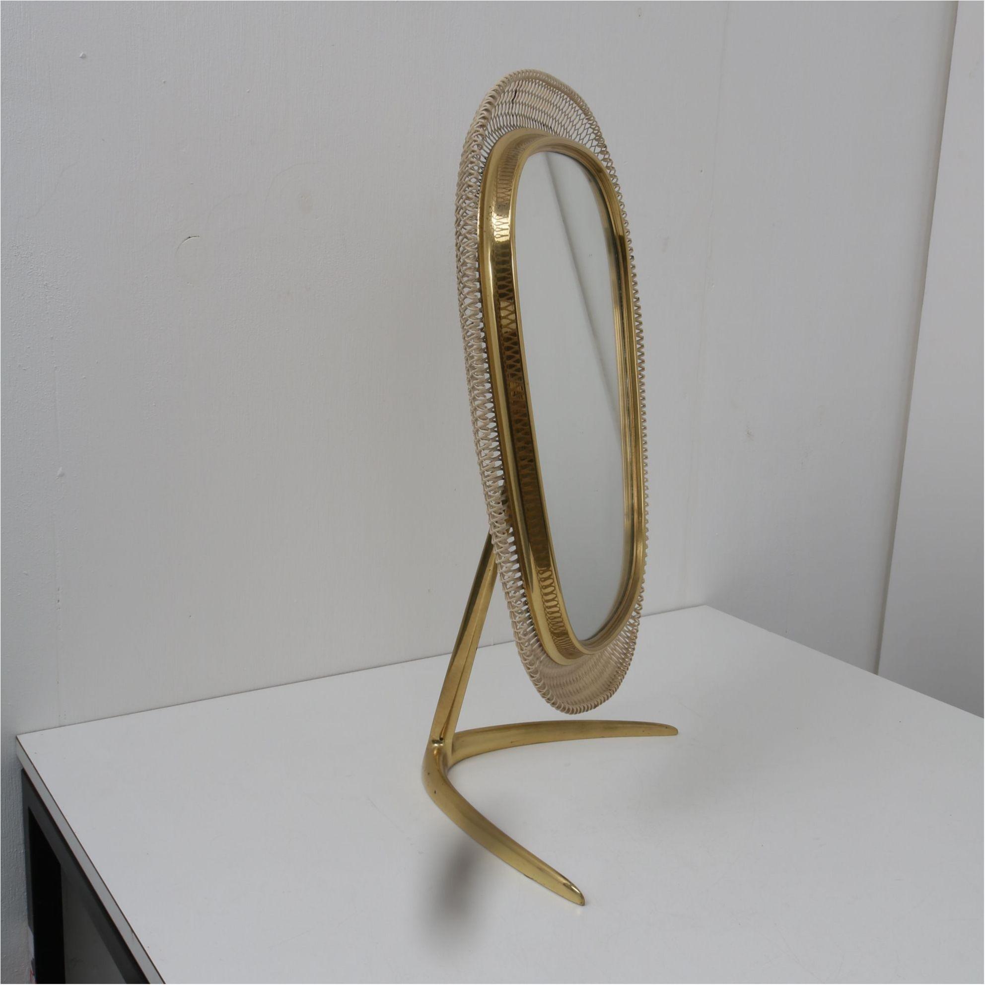 Brass Vanity Mirror Germany 1950