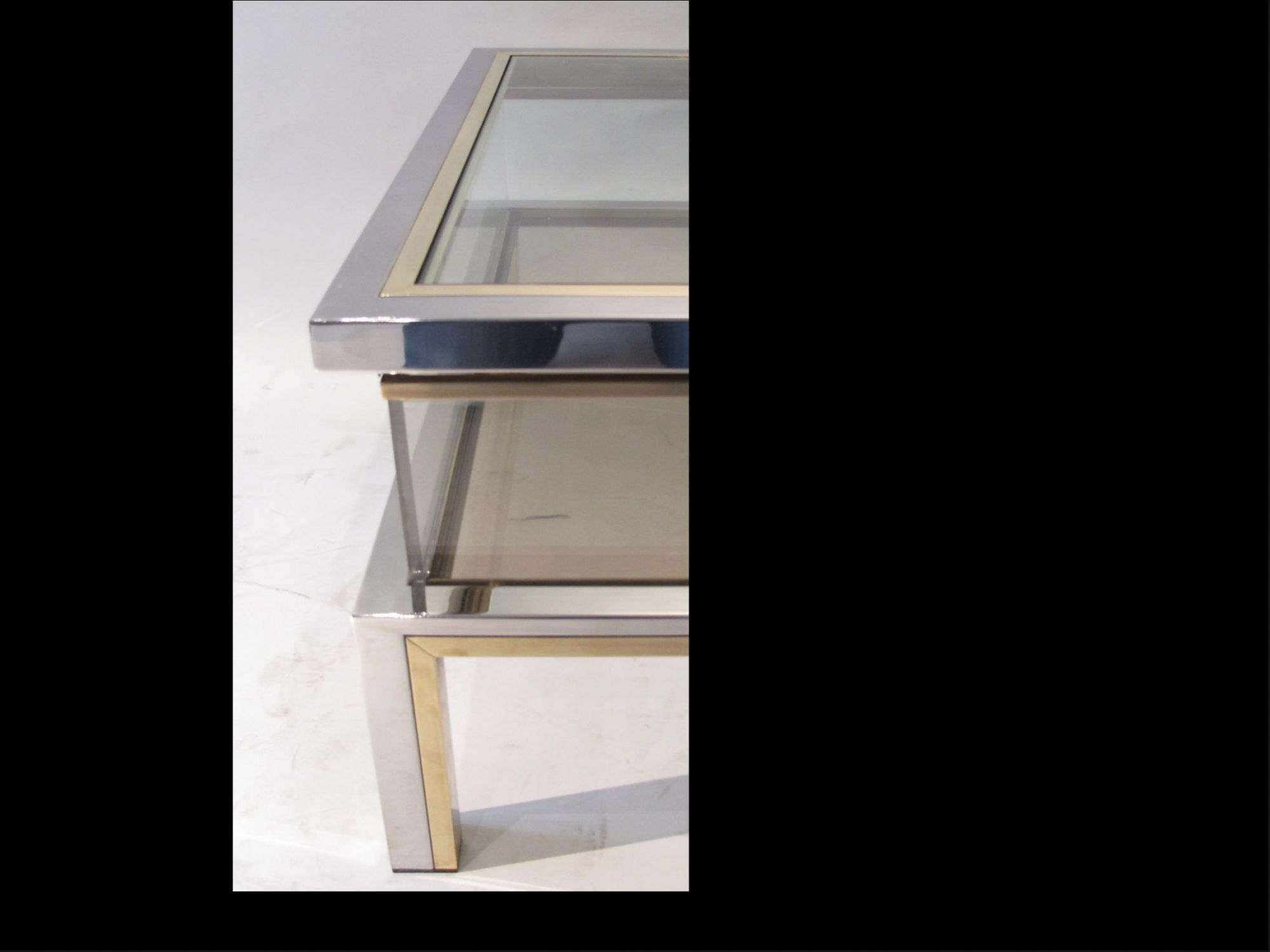 Fabelhaft Vitrine Modern Referenz Von A Vintage Brass & Chrome Coffee Table