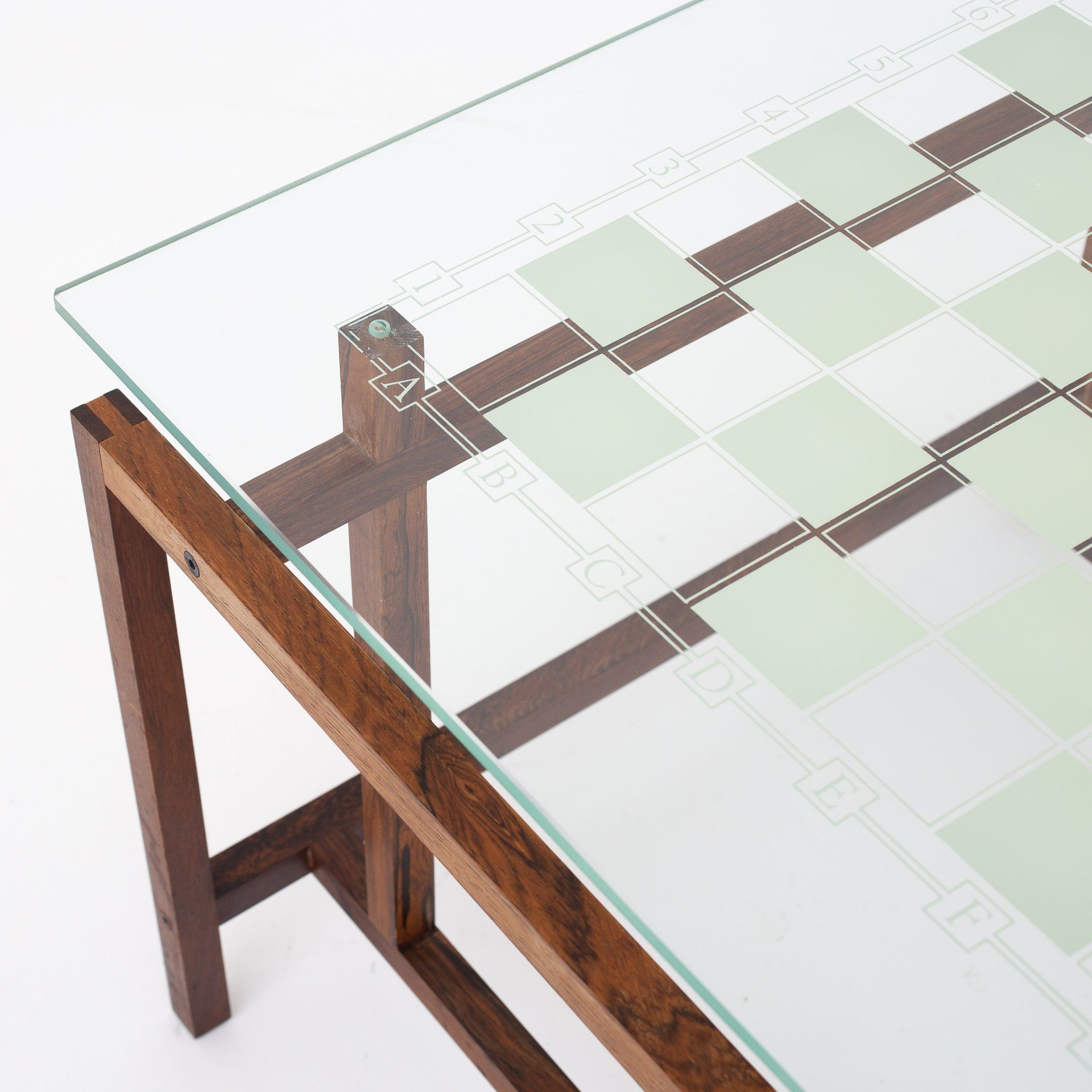 Chess Coffee Table In Rosewood