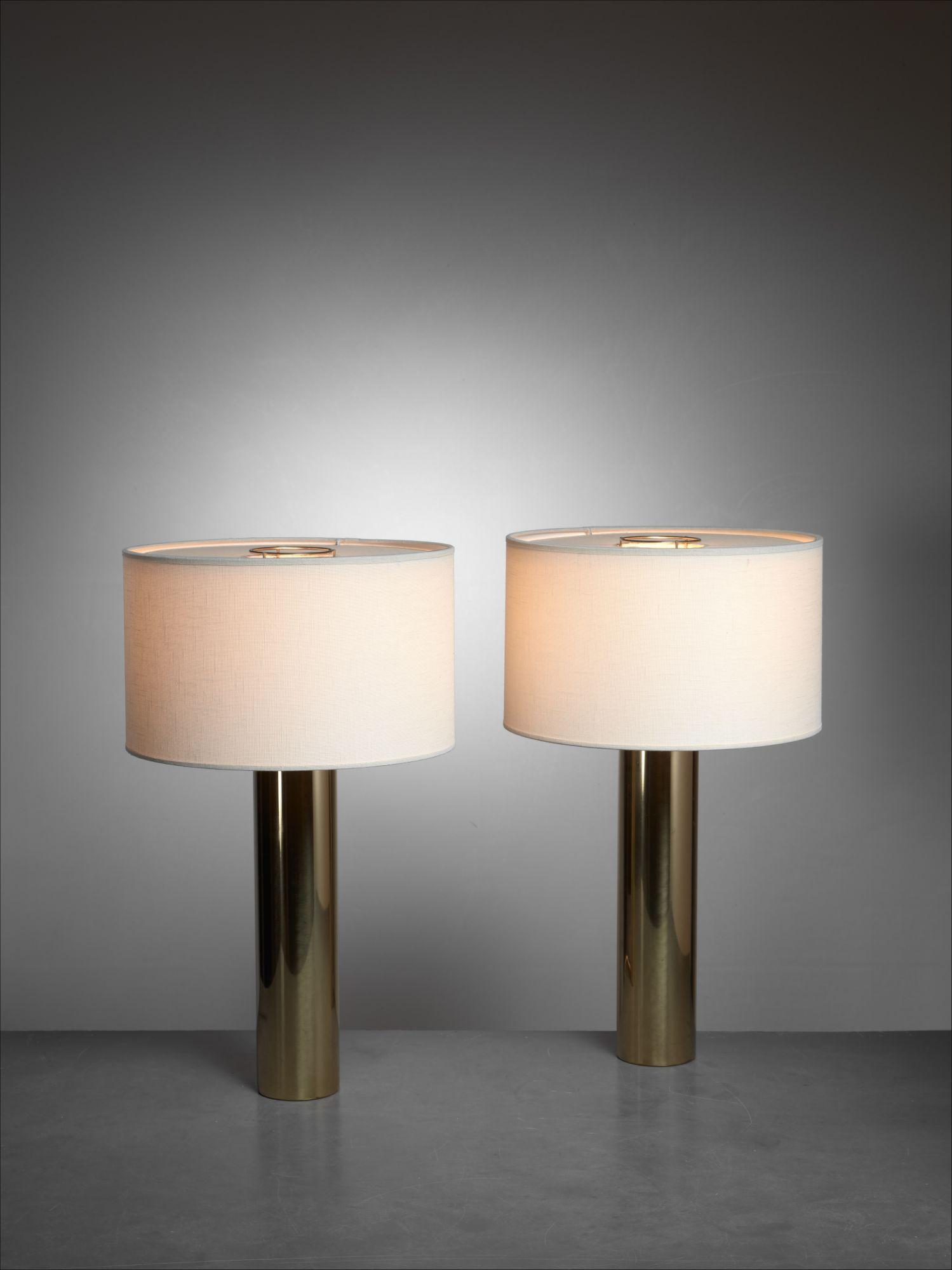 Falkenberg Brass Table Lamps Sweden 1950s