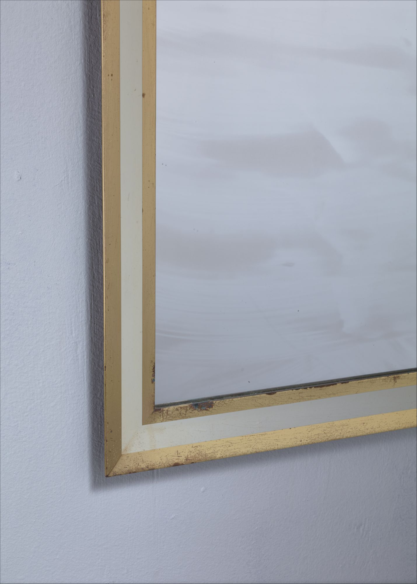 09ed38854b23b Large rectangular brass mirror