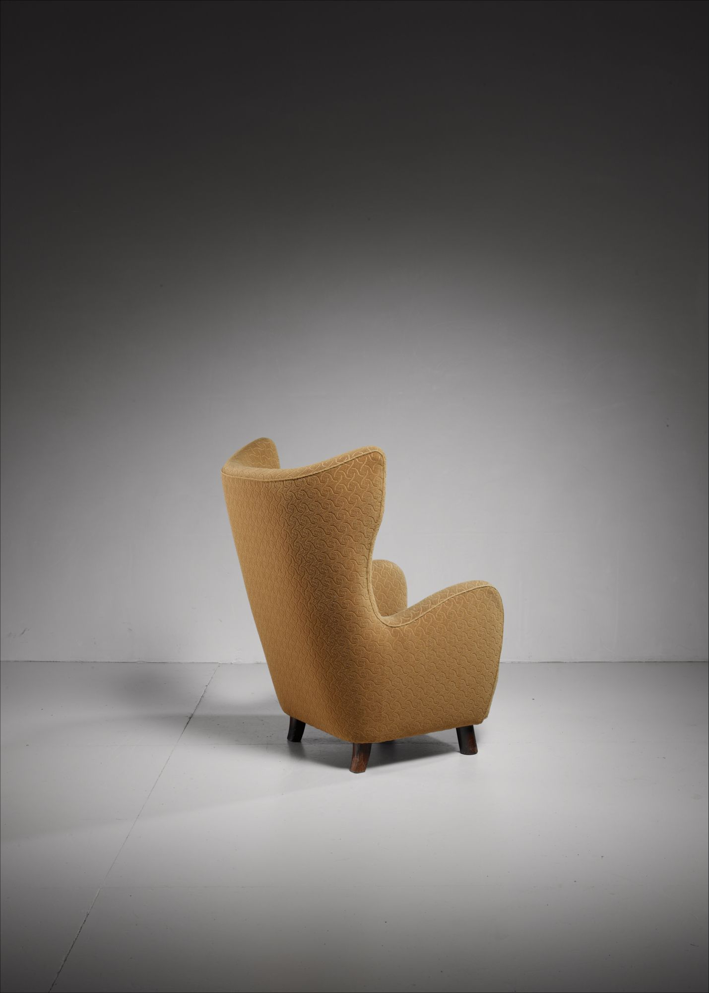 Danish High Wingback Lounge Chair 1940s