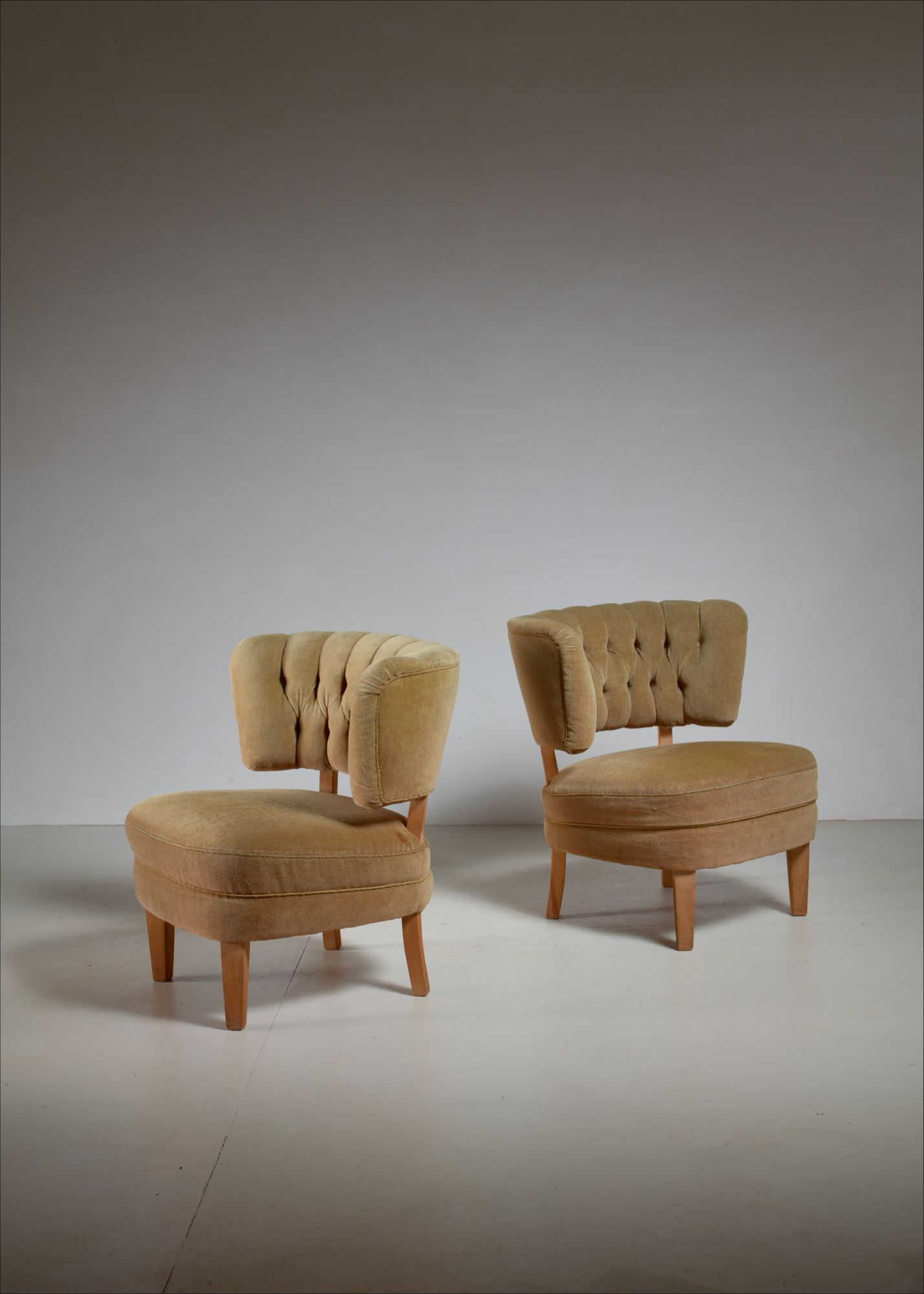 Fabulous Otto Schulz Pair Of Lounge Chairs By Jio Mobler Sweden 1940S Spiritservingveterans Wood Chair Design Ideas Spiritservingveteransorg