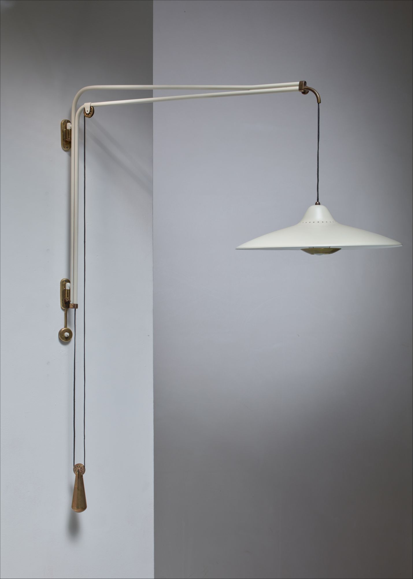 Buzzi & Buzzi Lighting franco buzzi jib style wall lamp for o-luce, italy, 1950s