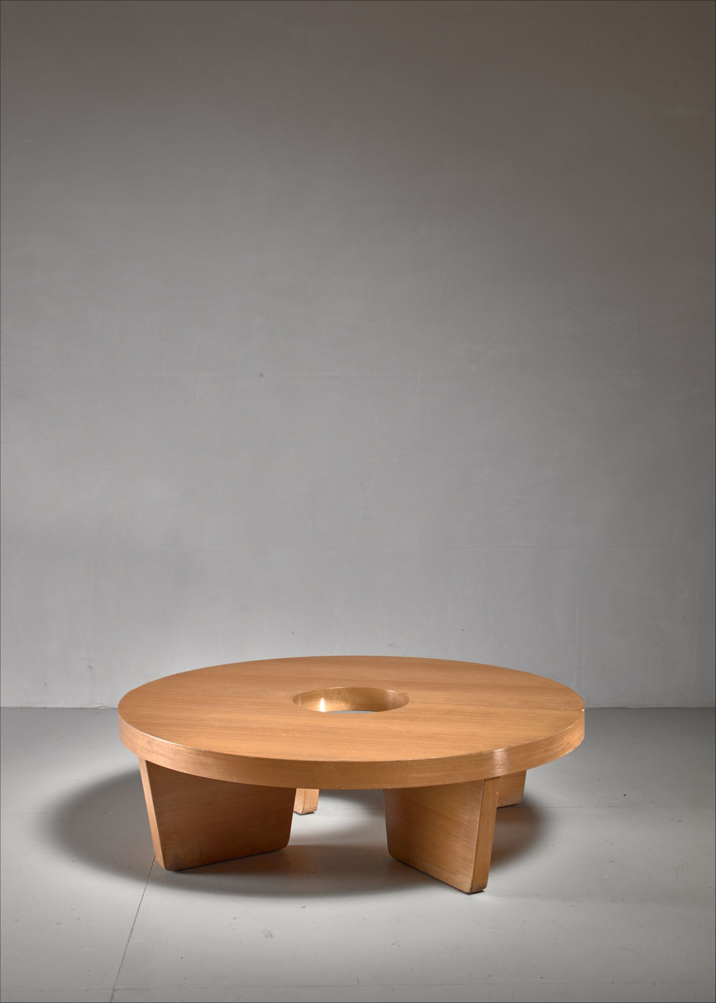 Harvey Probber Nuclear Coffee Table In Blonde Mahogany Usa