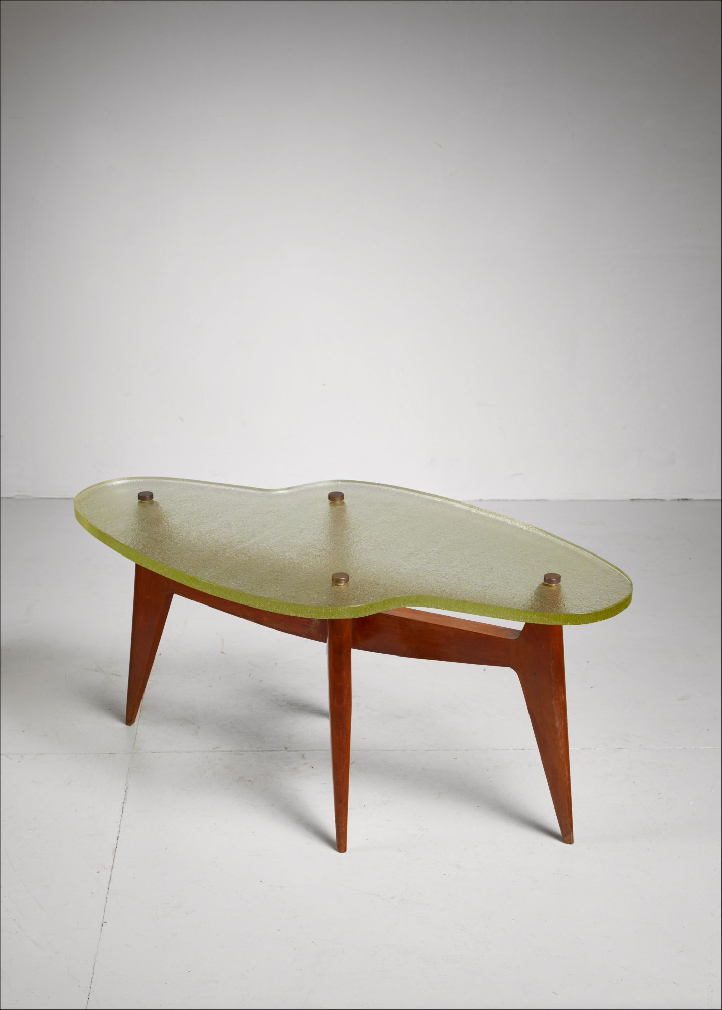 glass form furniture french free form coffee or side table table with glass top 1950s