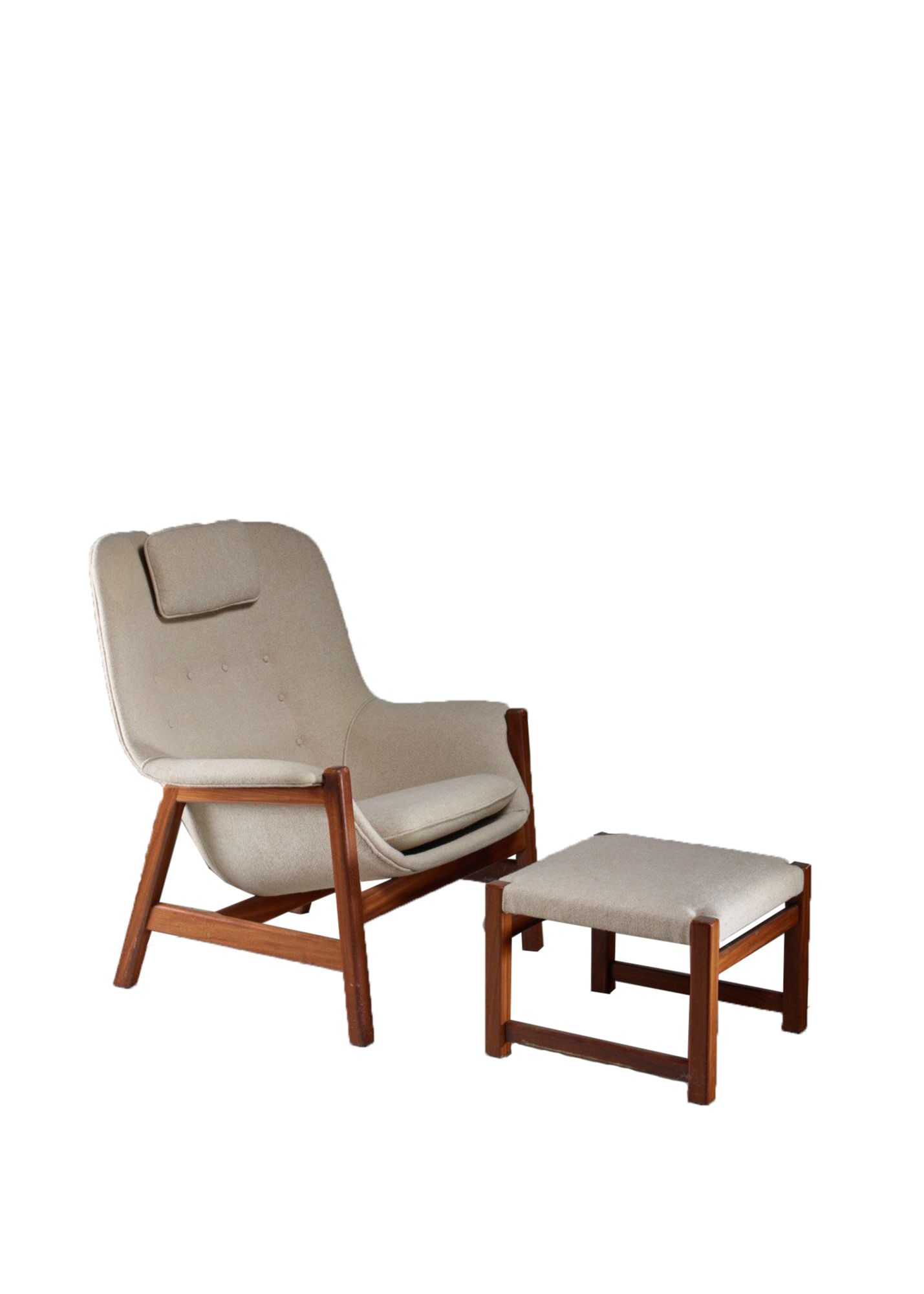 Remarkable Carl Gustav Hiort Af Ornas Lounge Chair With Ottoman Spiritservingveterans Wood Chair Design Ideas Spiritservingveteransorg