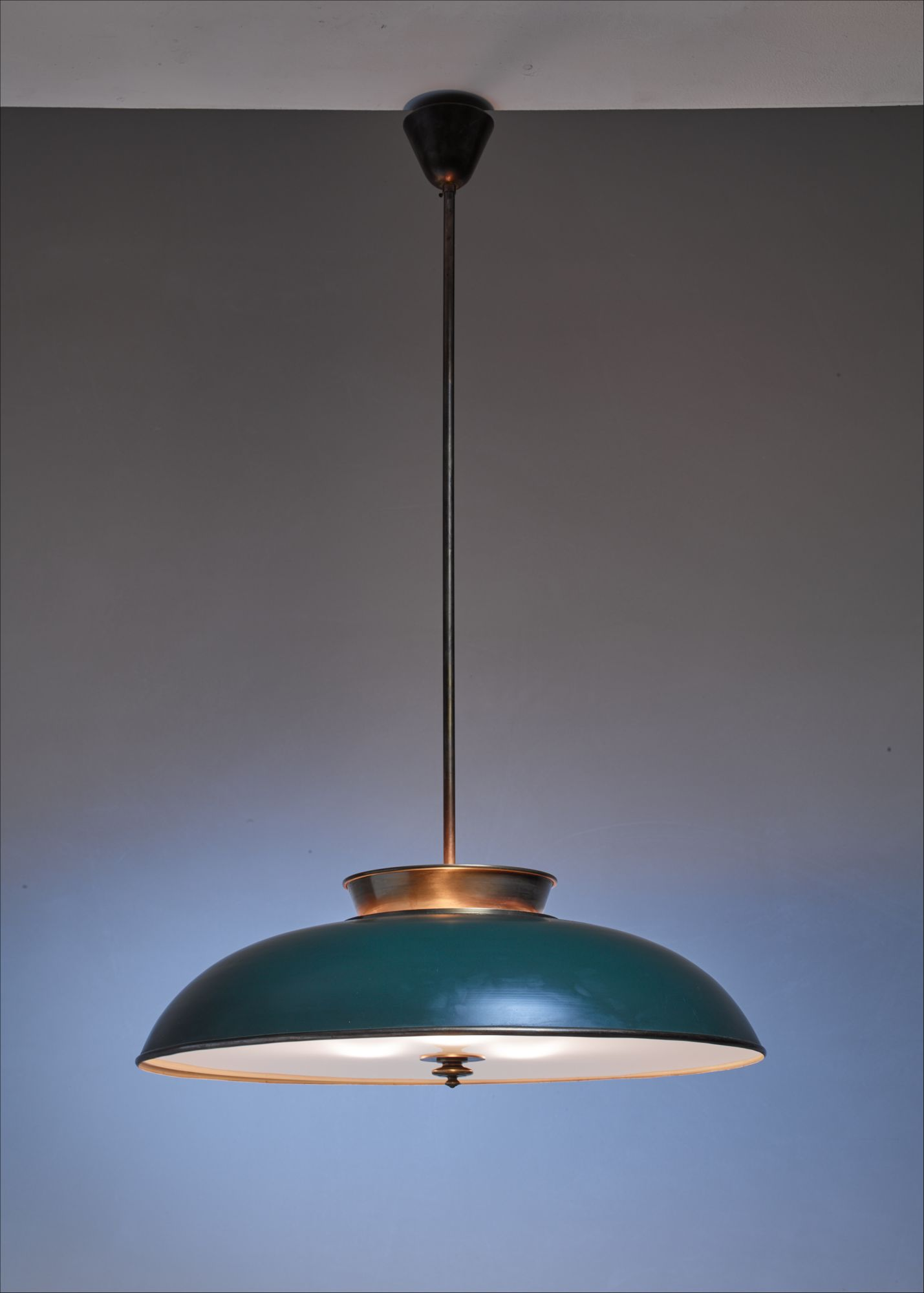 Large Swedish Br Pendant Lamp By Harald Notini 1930s