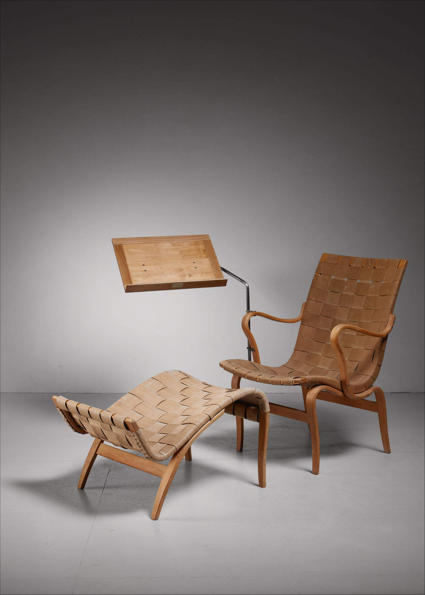 Magnificent Bruno Mathsson Reading Chair Eva With Ottoman Sweden 1940S Andrewgaddart Wooden Chair Designs For Living Room Andrewgaddartcom