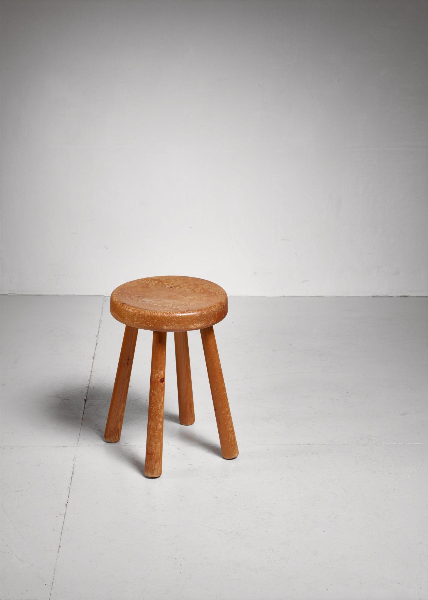Fantastic Charlotte Perriand Four Legged Stool From Les Arcs France Ibusinesslaw Wood Chair Design Ideas Ibusinesslaworg