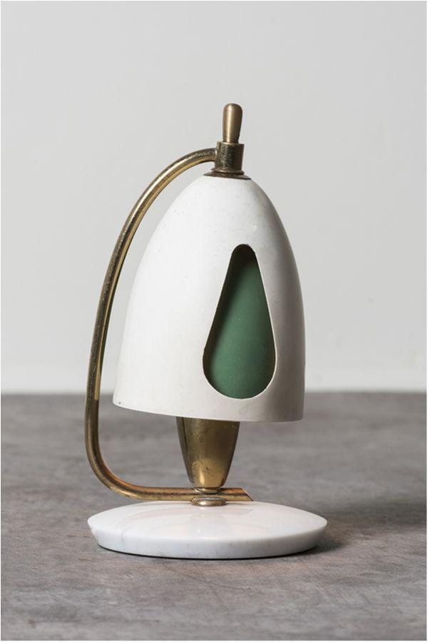 Lampada Da Tavolo Di Angelo Lelii Italia 1950