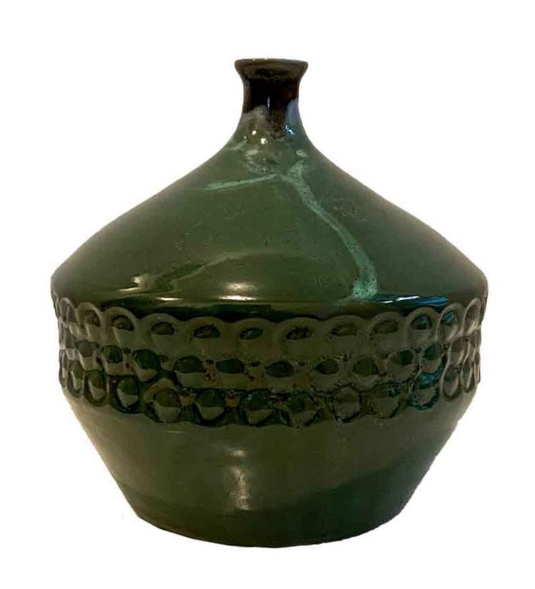 sunflower twigs ceramic floor vase ceramic vase for lilac 50s-60s design mid century vase artist ceramics gladioli