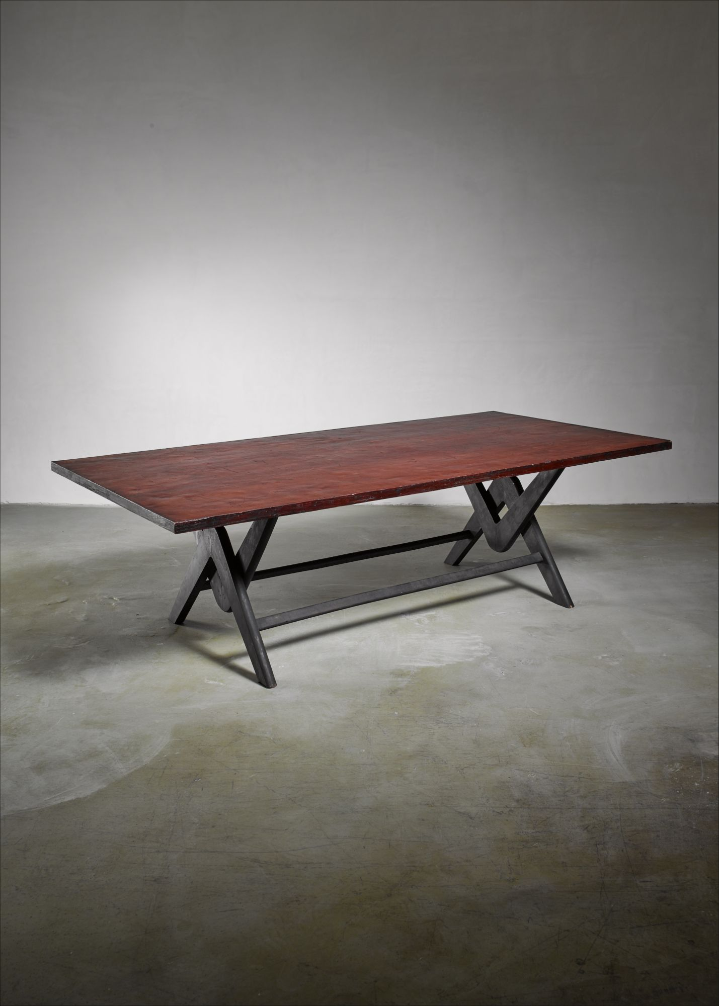 Pierre Jeanneret Chandigarh Conference Table Circa - Mid century modern conference table