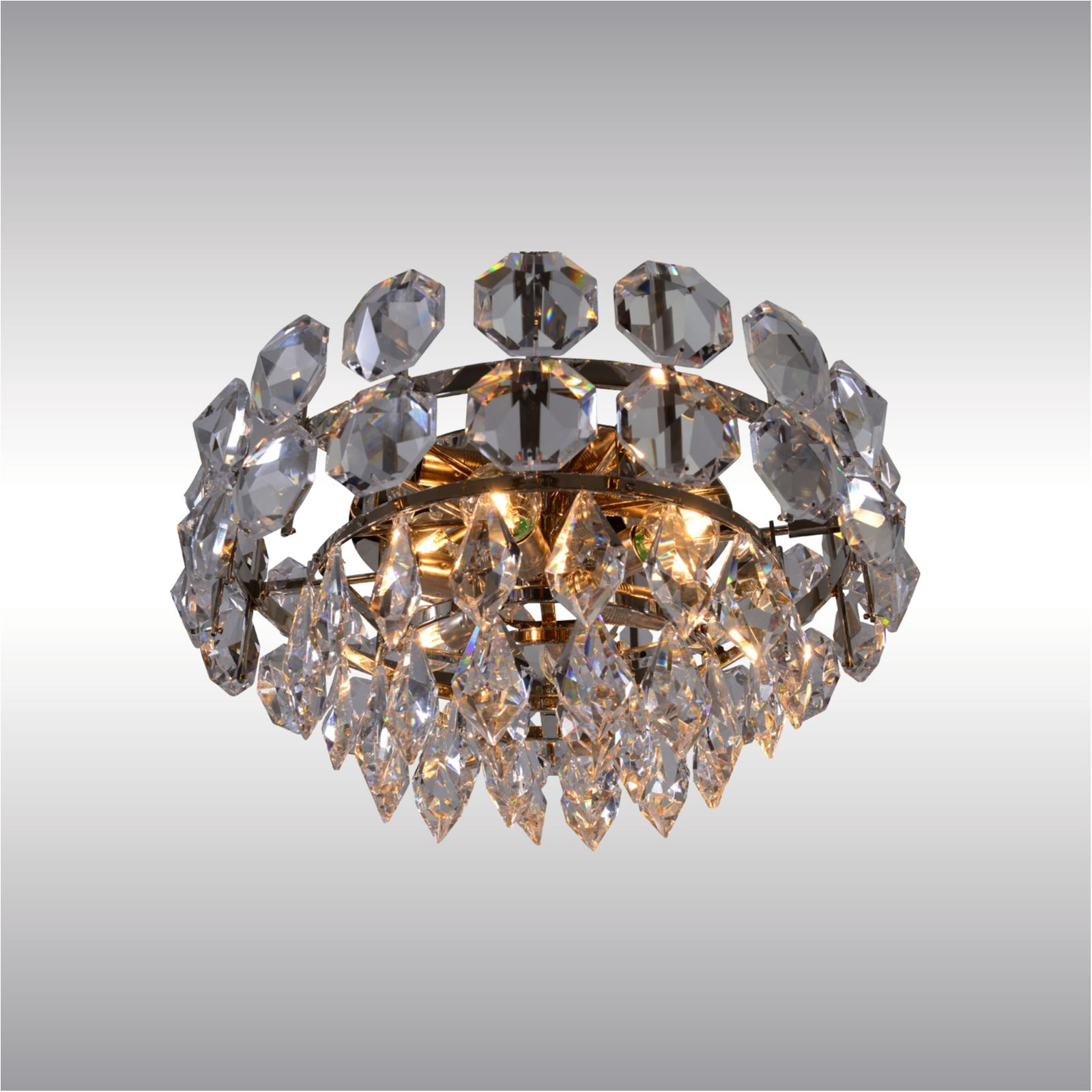 Image of: Mid Century Modern Crystal Glass Chandelier 1960