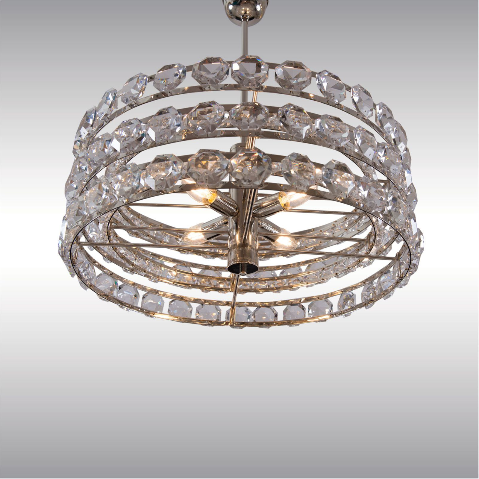 Image of: Mid Century Modern Crystal Chandelier By Woka Lamps Vienna