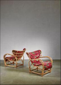 L Anfora Rattan Amphoren Lounge.Artorigo Mid Century Modern Wood Chair Tk T594