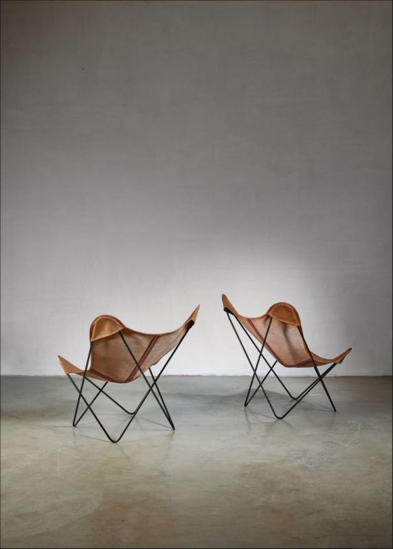 Pair of Knoll butterfly chairs