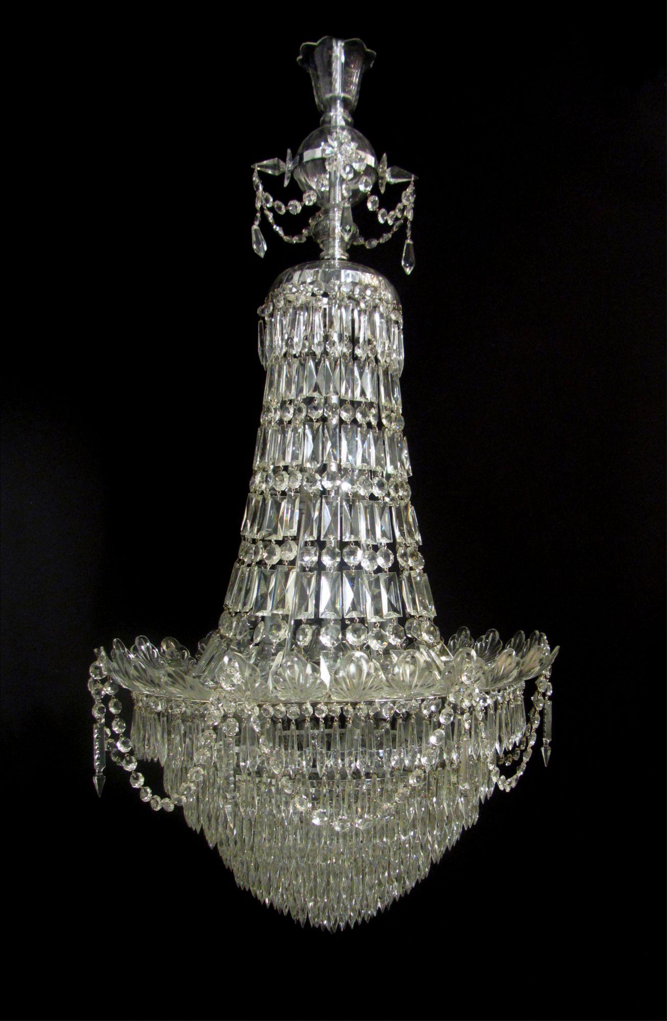 Exquisite !!! Antique Art Deco Chandelier Light Fixture !!