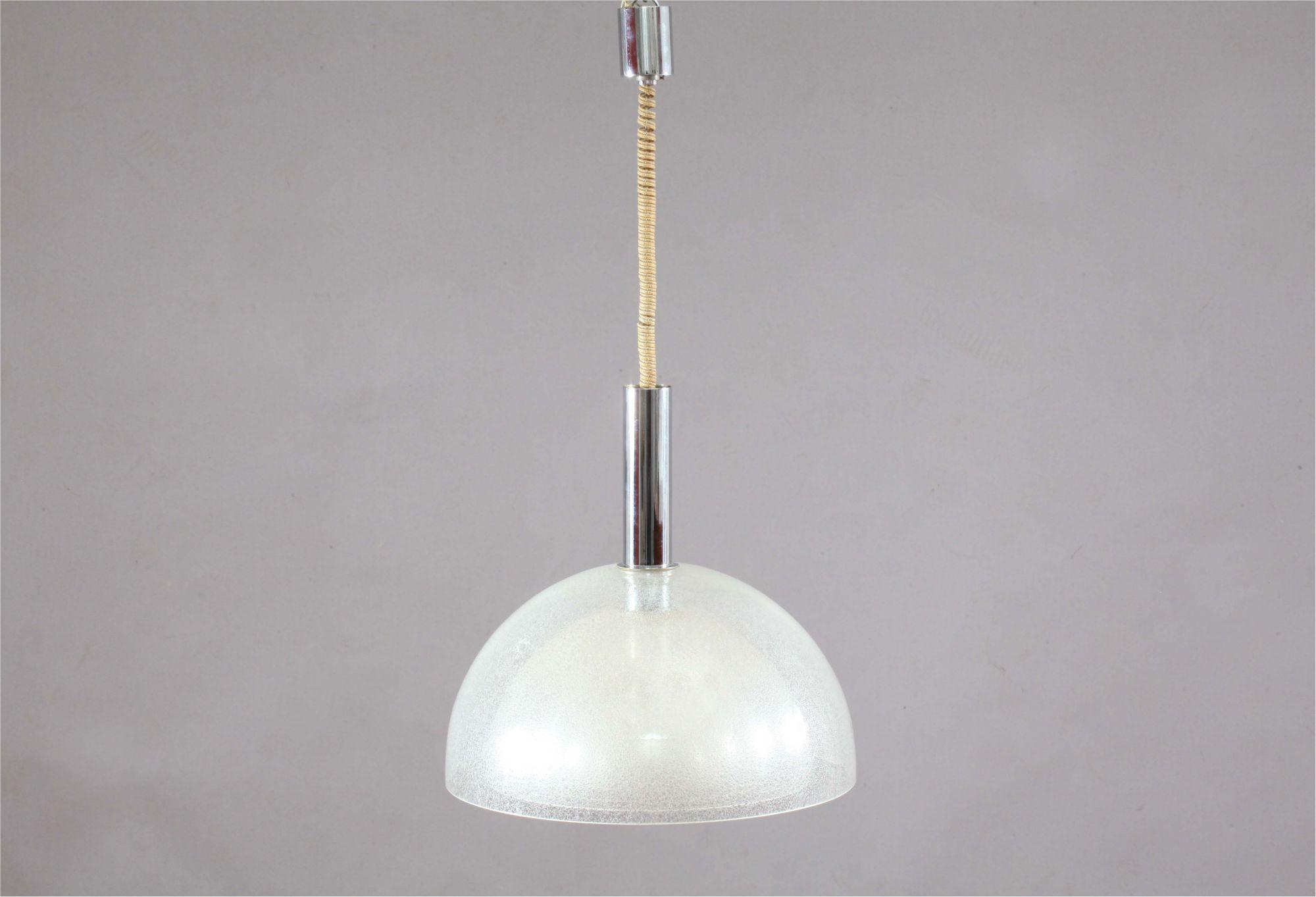 Large Four-Layer Murano Pulegoso Glass Pendant Lamp by Carlo