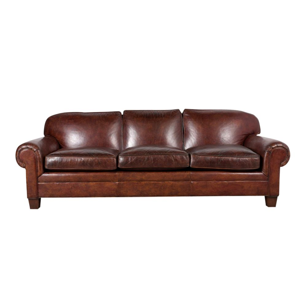 Pleasant Restored Ralph Lauren Leather Sofa Squirreltailoven Fun Painted Chair Ideas Images Squirreltailovenorg