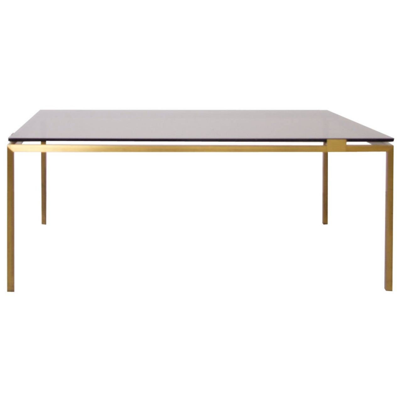 - Elegant Brass And Glass Coffee Table In The Manner Of Maison Jansen
