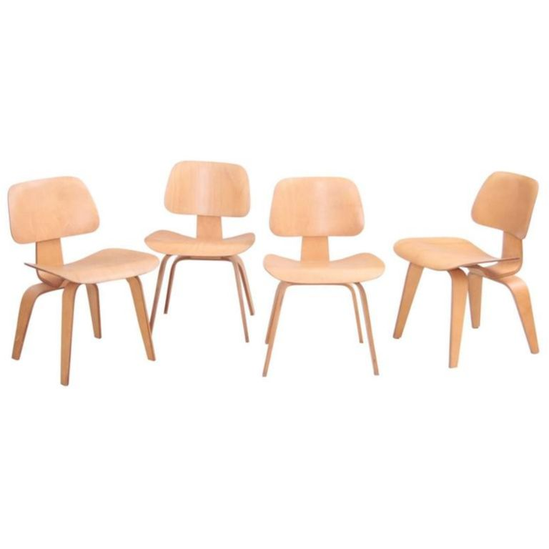 Fantastic Set Of Four Matched Early Dcw Dining Chairs By Charles And Pdpeps Interior Chair Design Pdpepsorg