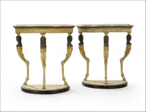 b66e6821f2cee A Pair of Swedish Empire Console Tables In The Egyptian Style Lundgrens  Antiques