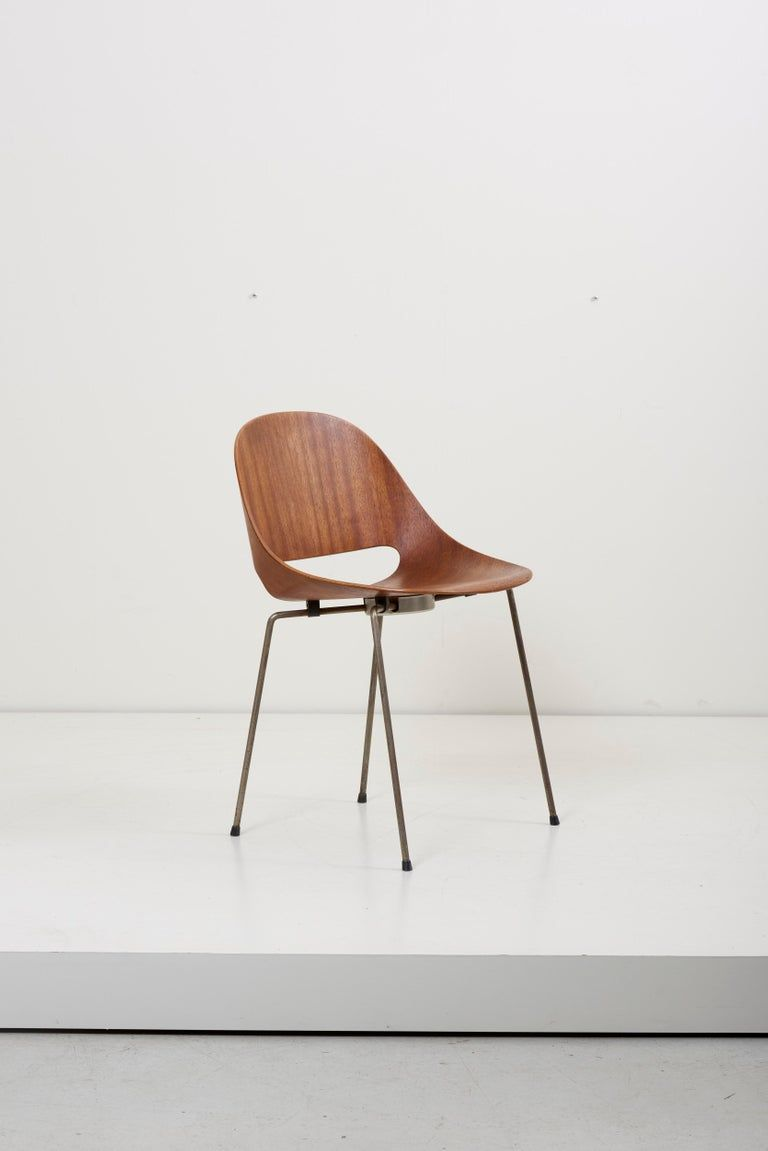 Fantastic Set Of Four Sl58 Plywood Chairs In Teak By Leon Stynen For Inzonedesignstudio Interior Chair Design Inzonedesignstudiocom
