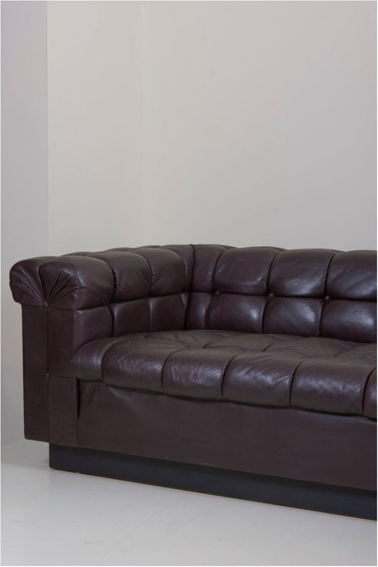 Party Sofa Model 5407 In Dark Brown Leather By Edward