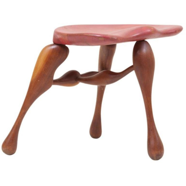 Surprising Studio Craft Wooden Stool By Ron Curtis Us 1950S Andrewgaddart Wooden Chair Designs For Living Room Andrewgaddartcom