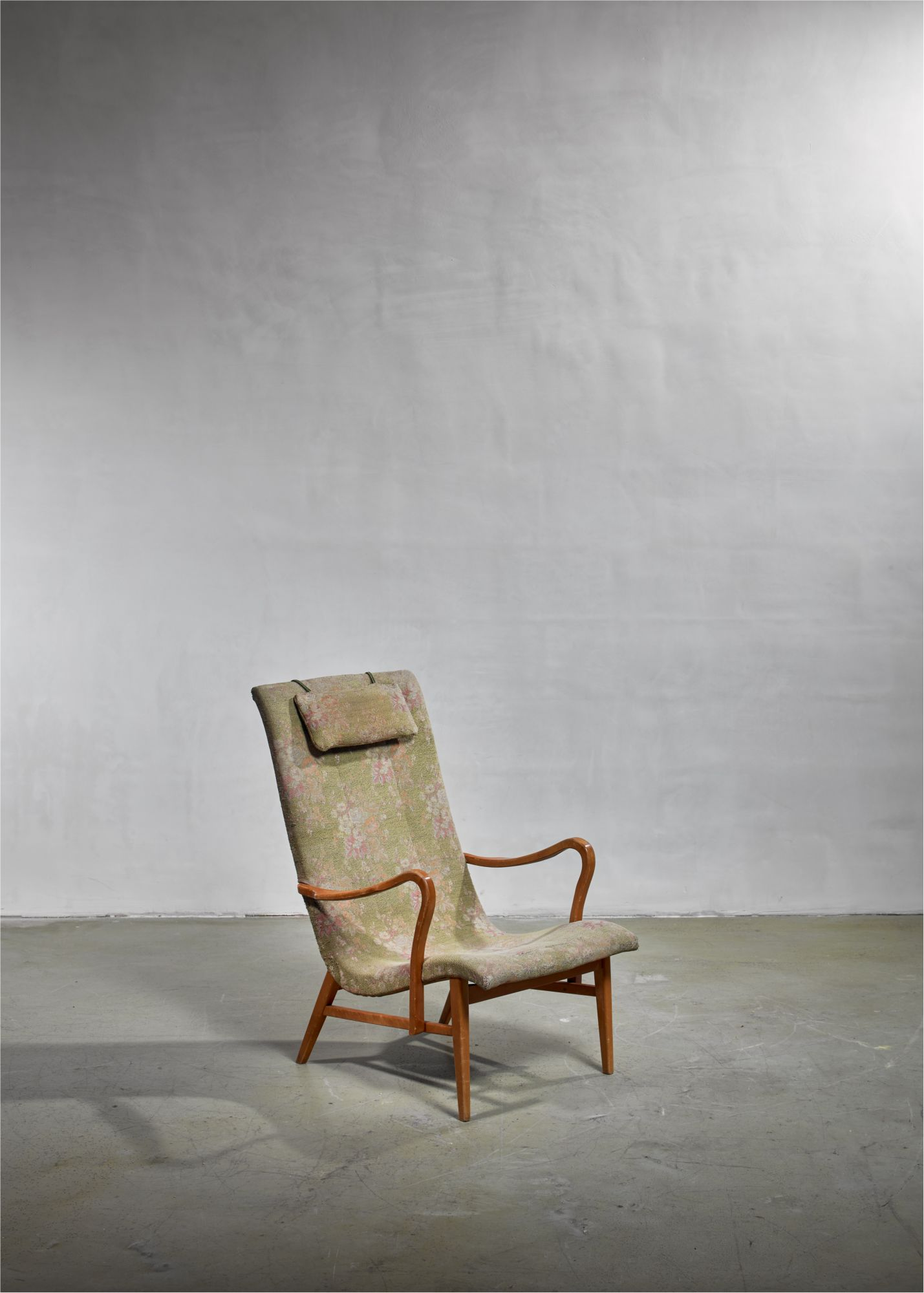 Phenomenal Carl Axel Acking Lounge Chair With Aged Floral Upholstery Squirreltailoven Fun Painted Chair Ideas Images Squirreltailovenorg