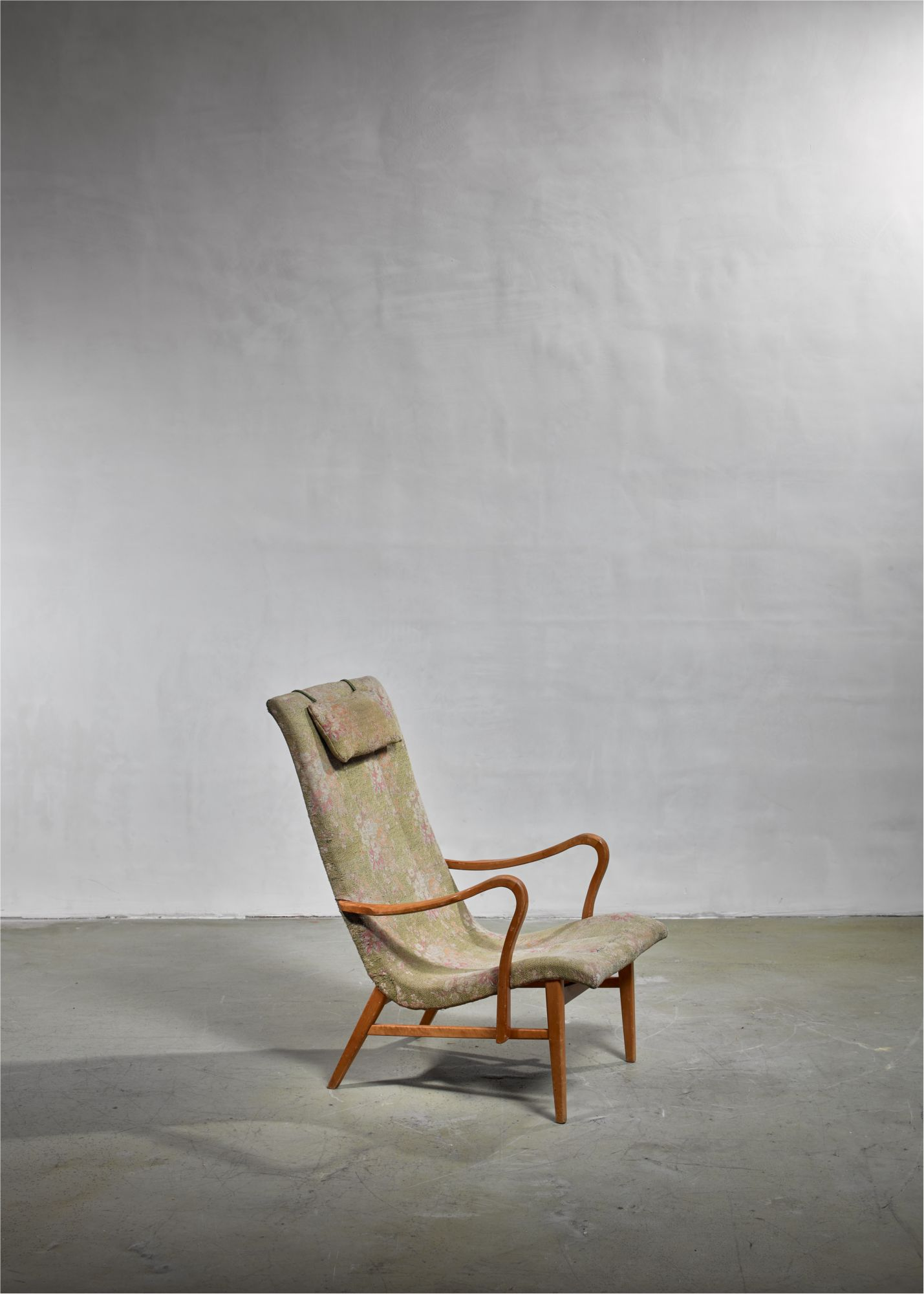 Enjoyable Carl Axel Acking Lounge Chair With Aged Floral Upholstery Squirreltailoven Fun Painted Chair Ideas Images Squirreltailovenorg