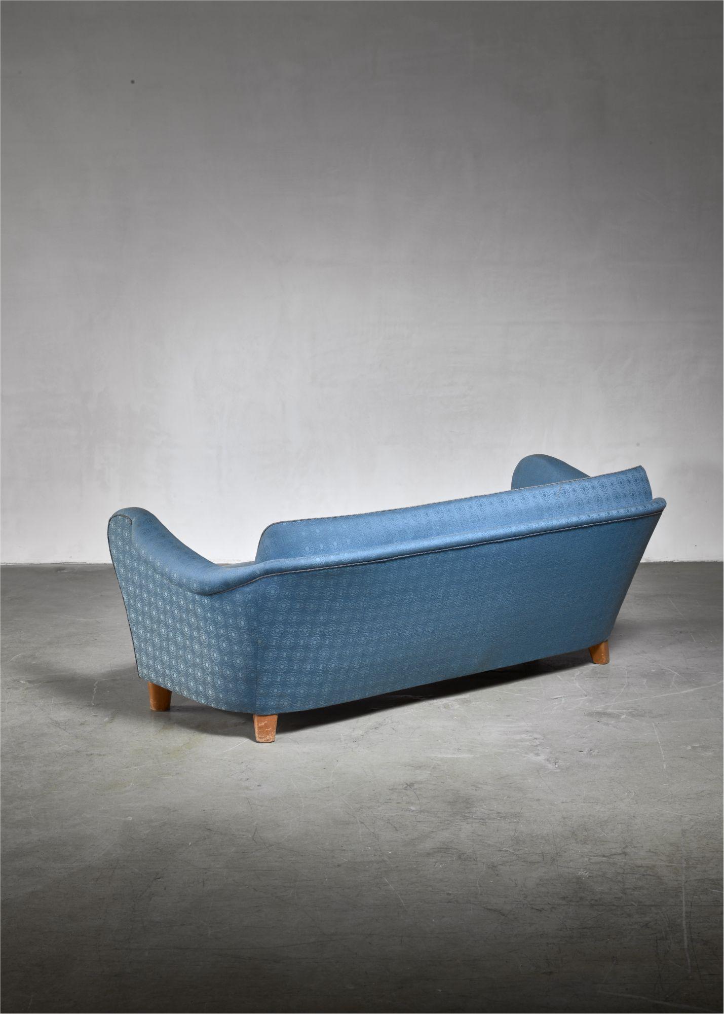 Swedish Blue Sofa 1930s