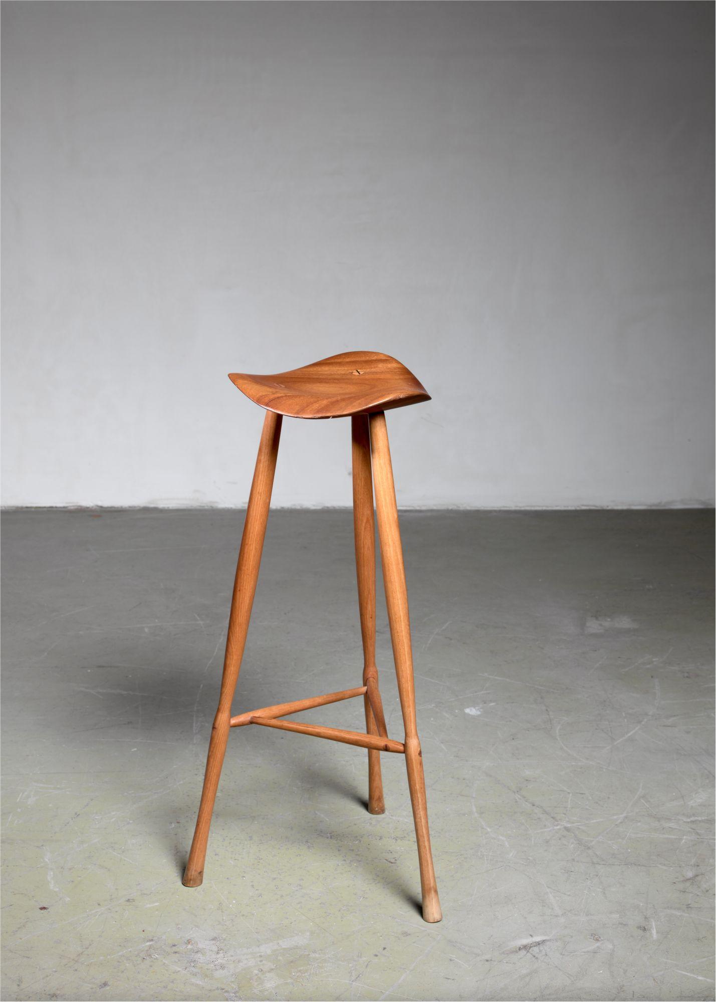 Remarkable Karl Seemuller Studio Craft Teak Stool Usa 1973 Beatyapartments Chair Design Images Beatyapartmentscom