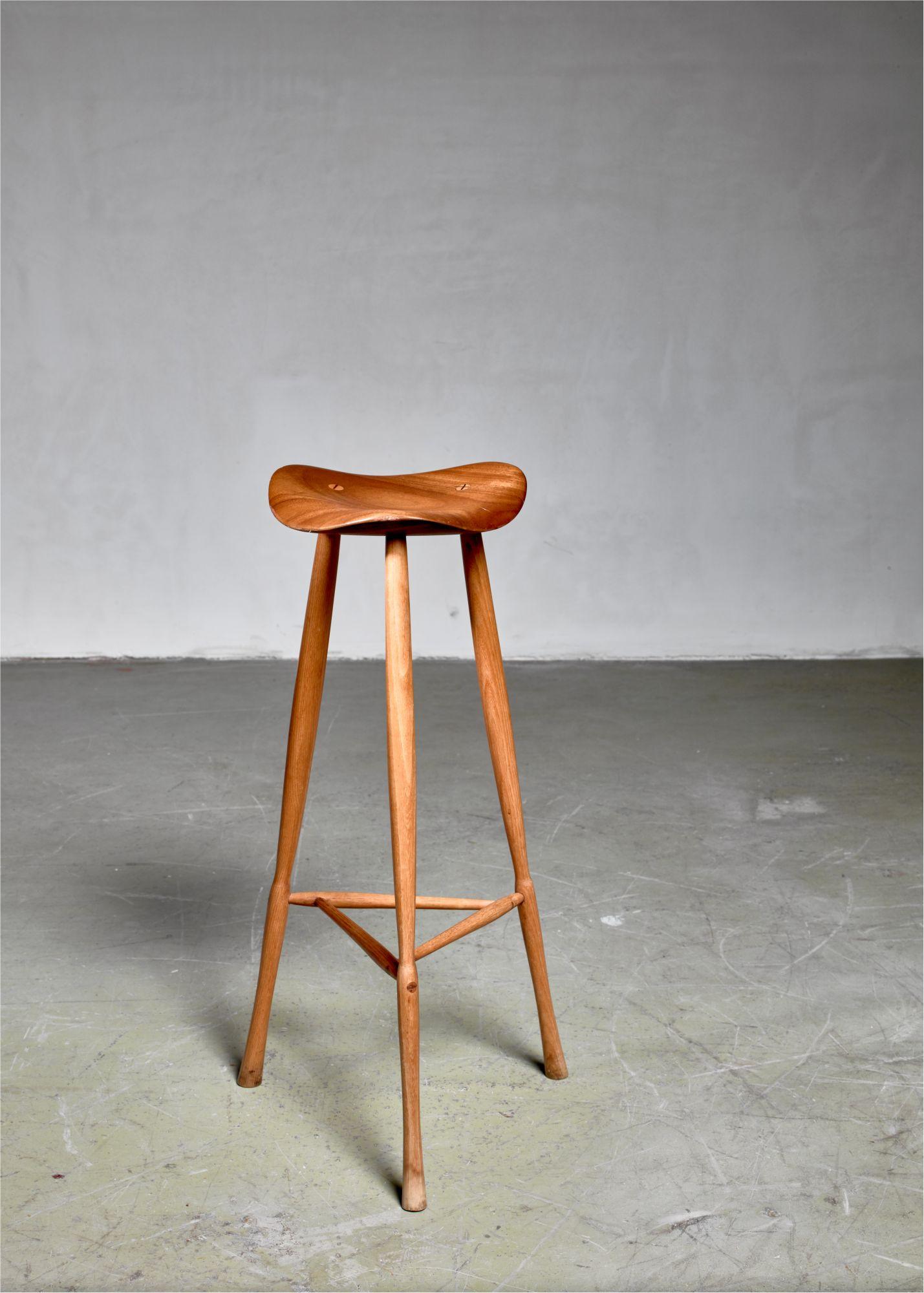 Prime Karl Seemuller Studio Craft Teak Stool Usa 1973 Beatyapartments Chair Design Images Beatyapartmentscom